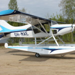 Maule-aircraft-on-2800A-Montana-Floats-Finland